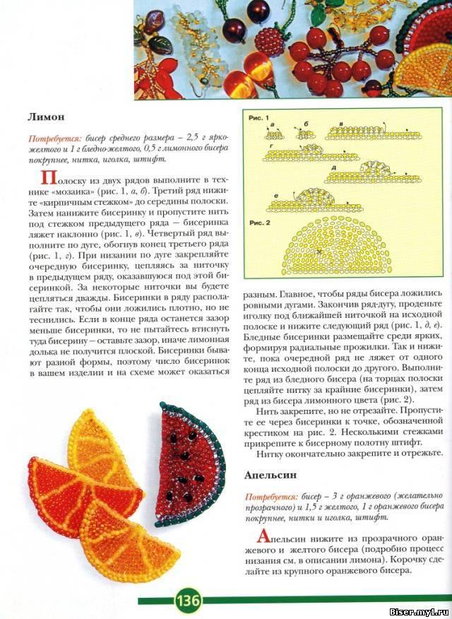 """Арбуз выкладывала, дошла очередь до лимона.  Схема взята из книги Марины Ляукиной  """"Бисер для начинающих."""